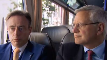 VIDEO. De Wever en Peeters clashen in de bus van Freek Braeckman