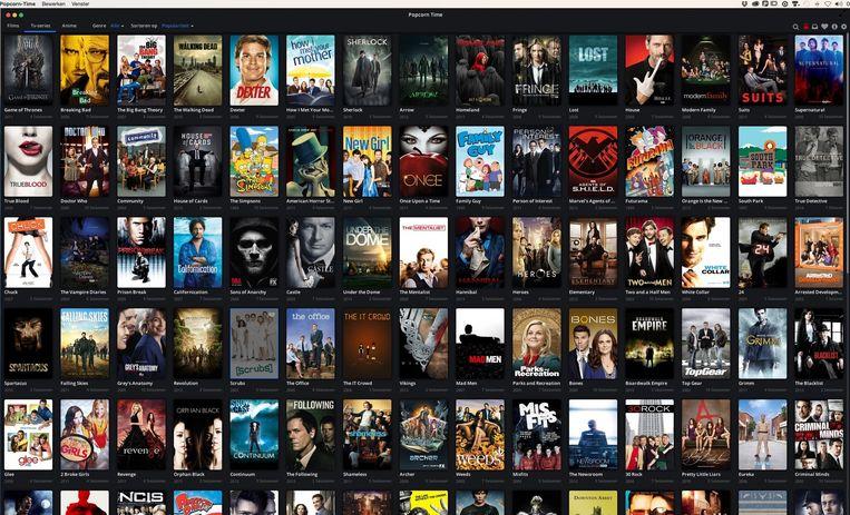 Wachten op de dvd-box of tot een nieuwe serie wordt uitgezonden op tv? Dat hoeft niet met Popcorn Time. Beeld Volkskrant