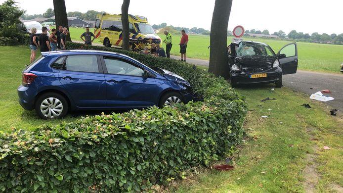 Het ongeval op de kruising Westerkampen met de Schoolweg in Dalfsen.