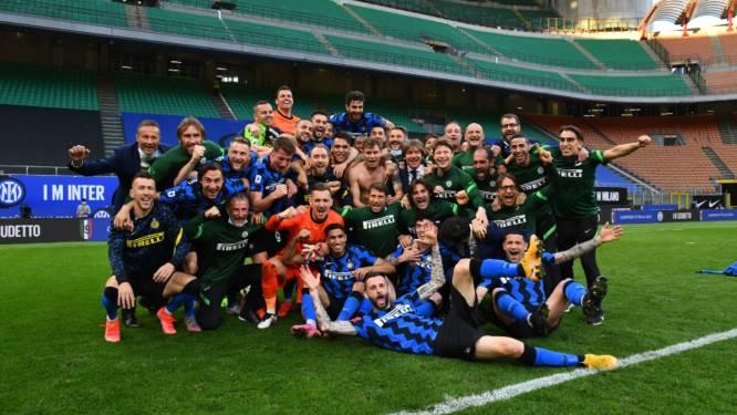 Lukaku opvallende afwezige op titelviering Inter: Big Rom had andere verplichtingen na zege tegen Sampdoria