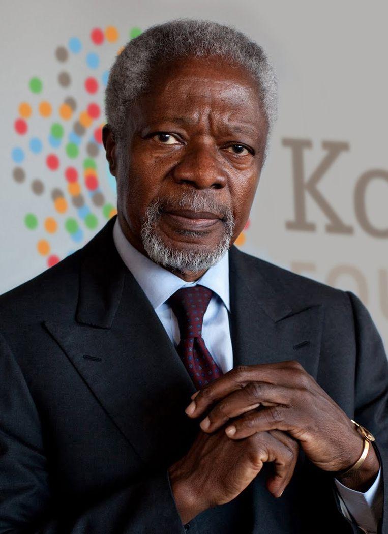 Kofi Annan was  van 1997 tot 2006 secretaris-generaal van de Verenigde Naties. Beeld THE NEW YORK TIMES