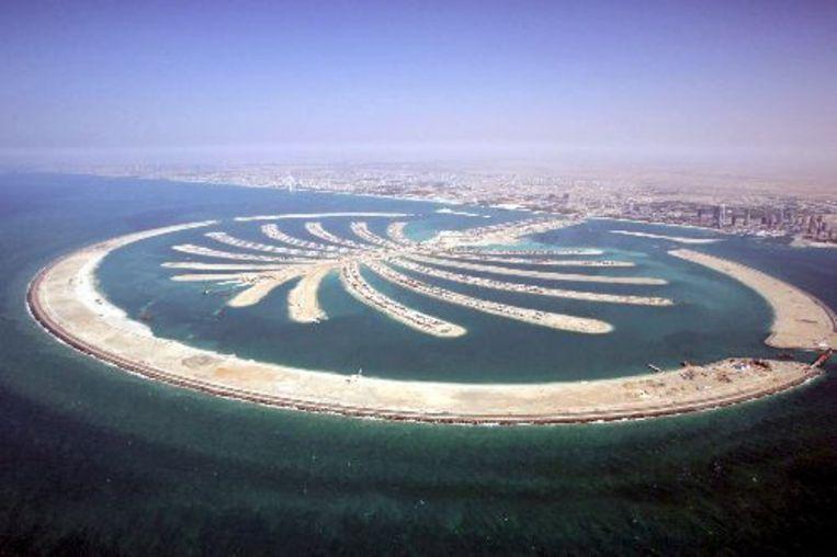 De palmeilanden in Dubai. Vastgoedfonds Palm Invest is failliet verklaard. ANP Beeld