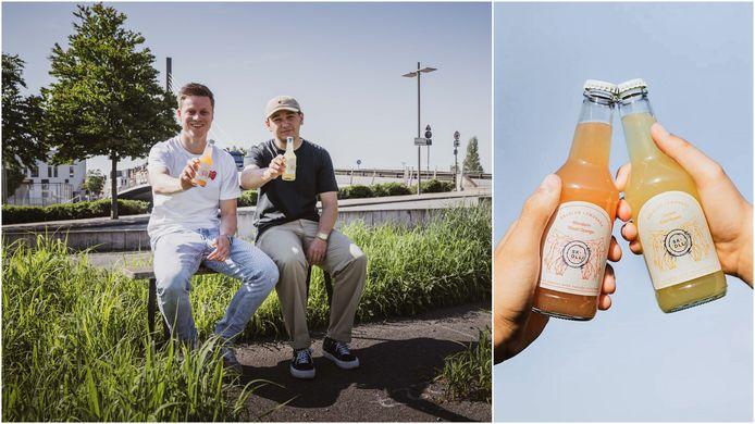 Victor Van De Wiele en Jochen Mahieu bedachten de nieuwe limonades Skoll