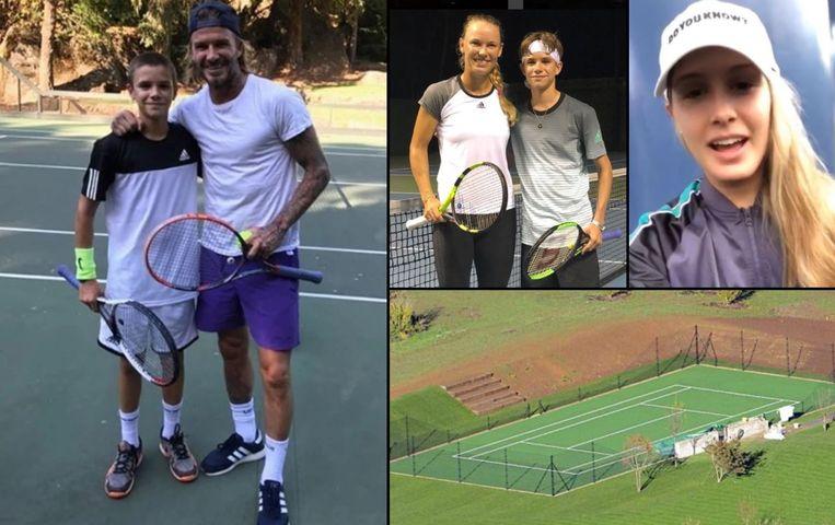 Kunnen papa David en mama Victoria hun zoon Romeo helpen om zijn tennisdroom waar te maken.