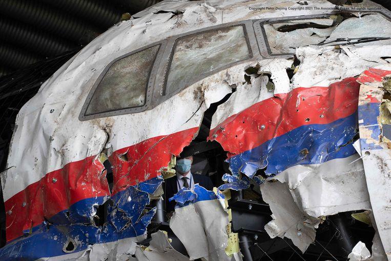 Het MH17-wrak. Beeld AFP
