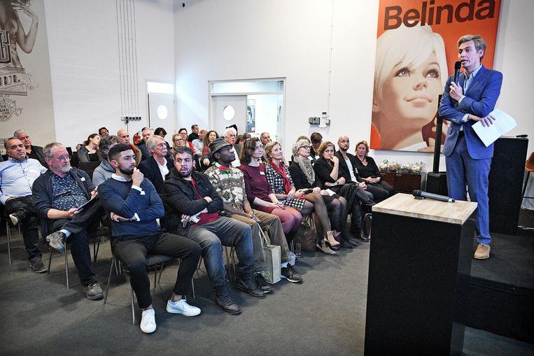 De debatavond over de Zwarte Pieten-kwestie in Zaanstad.  Beeld Guus Dubbelman / de Volkskrant