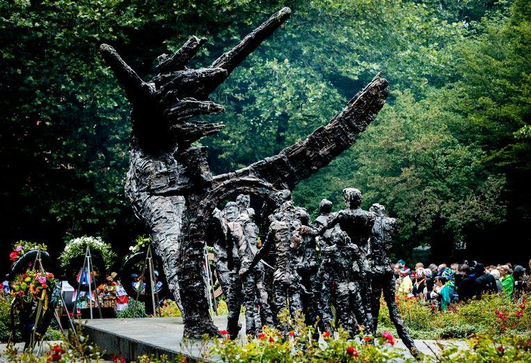 Nationaal Monument Slavernijverleden in het Oosterpark. Beeld ANP