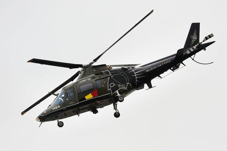Archiefbeeld van een Belgische Agusta-helikopter (A109). Beeld BELGA