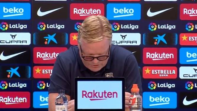 """La conférence de presse surréaliste de Koeman au Barça: """"Nous comptons sur votre soutien en ces temps difficiles"""""""