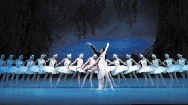 Het corps de ballet van het Mariinsky wordt geprezen voor zijn uniformiteit, zoals hier in ¿Het zwanenmeer¿. (Trouw) Beeld