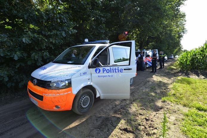 De Belgische politie zette de achtervolging in