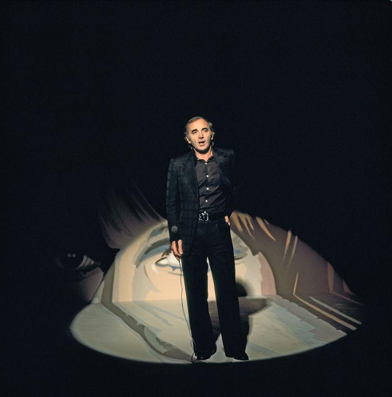 Aznavour in de Liesbeth List Show in 1975. Beeld anp