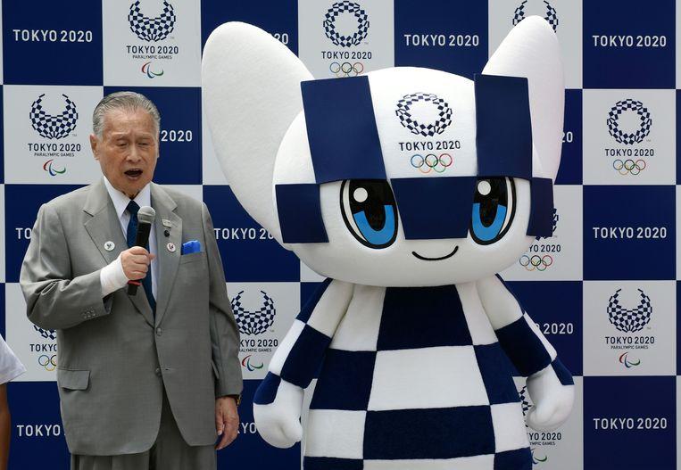 Yoshiro Mori. Beeld AFP