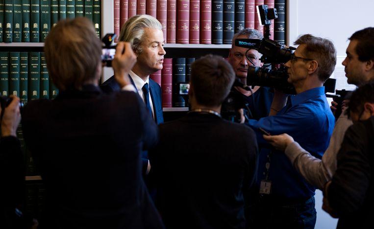 Media-aandacht voor Geert Wilders Beeld Van Den Bergh Freek