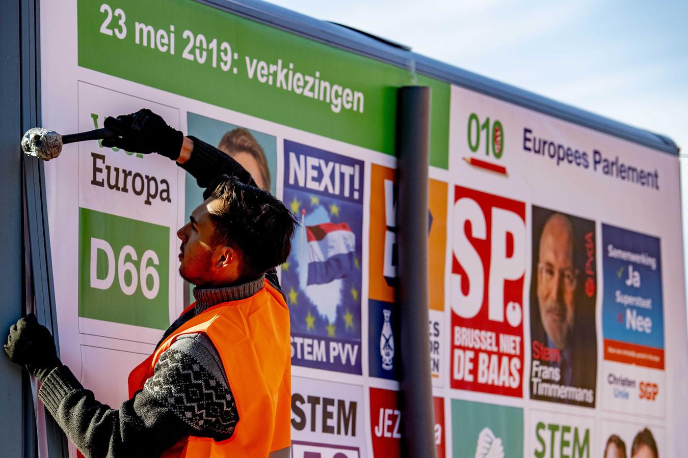 Verkiezingsposters voor de Europese verkiezingen.