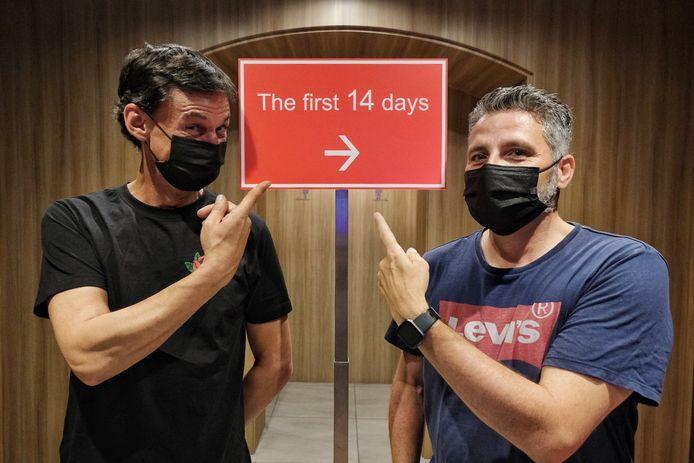 Gert Swillens en Piet De Nul hebben het naar hun zin in Tokyo.