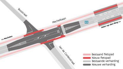 Kruispunten langs Mechelbaan krijgen fietsoversteken en middeneilanden