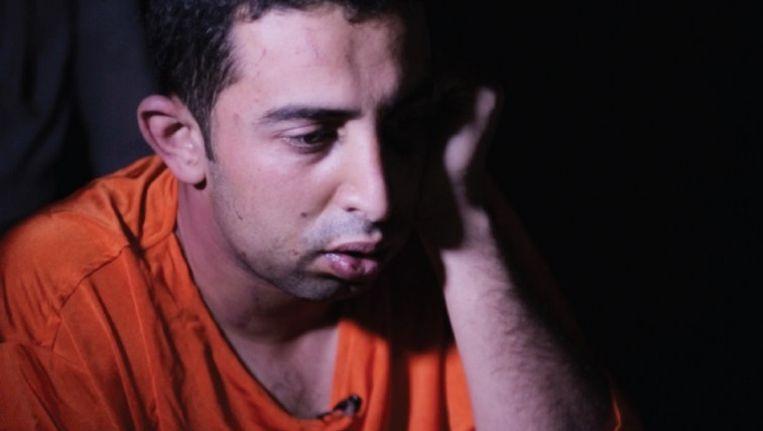 De gevangen genomen Jordaanse piloot. Beeld rv