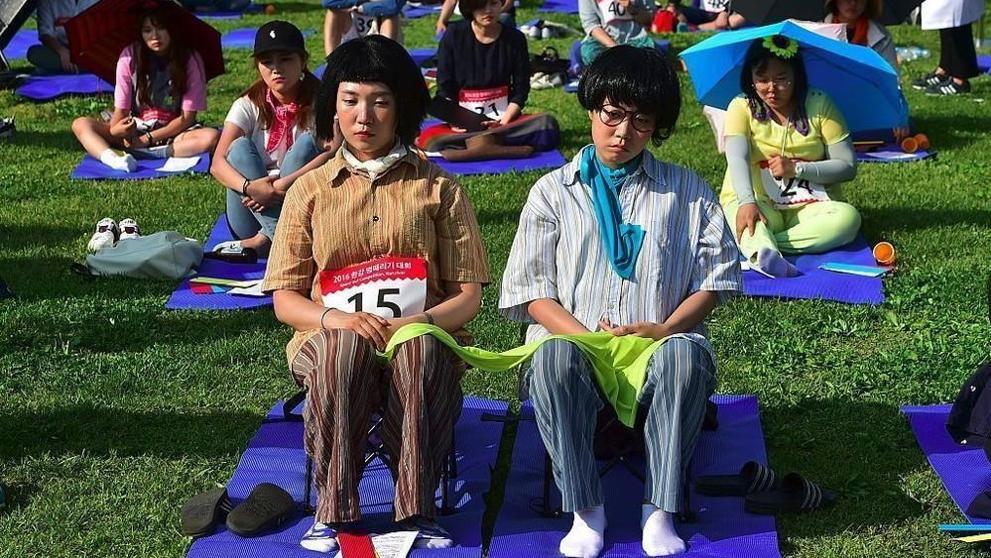 Deelnemers aan een eerdere editie van de Space-Out Competition.