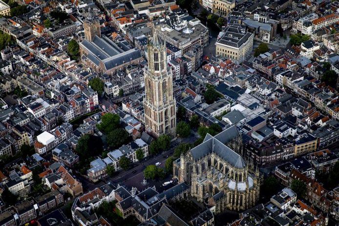 Utrecht vanuit de lucht, ter illustratie.