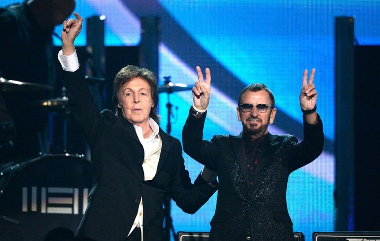 Paul McCartney en Ringo Starr Beeld afp