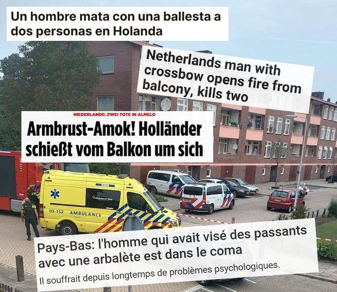 Duitse, Franse, Spaanse en zelfs Russische media schreven over de incidenten in Almelo