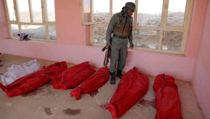 De bloedige aanslag kostte het leven aan 18 burgers.