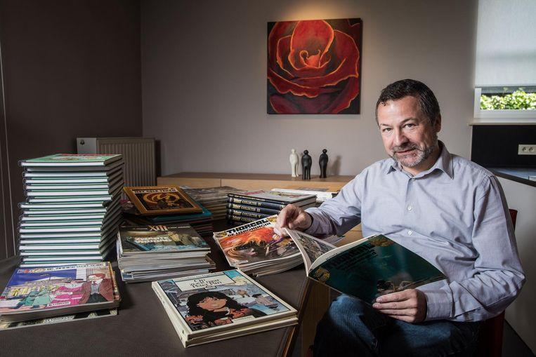 Johan Deckmyn is een echte stripfanaat en heeft minstens 1.500 albums.