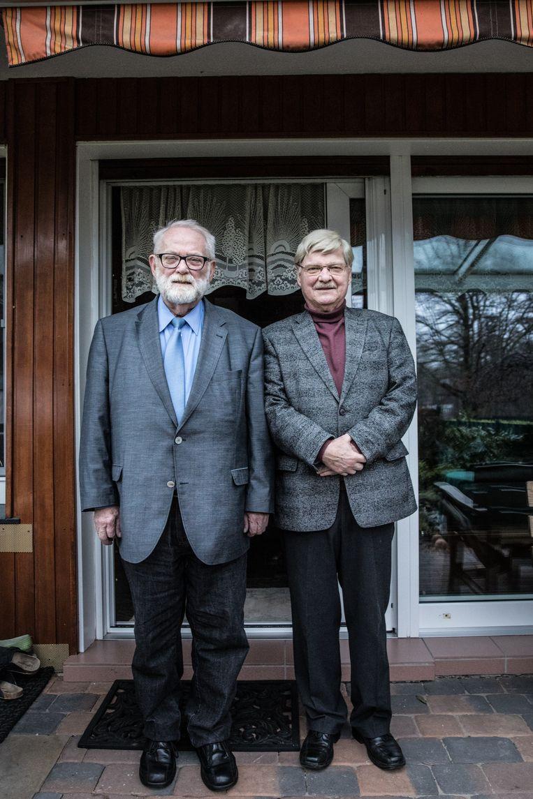 Hans-Joachim Paul (l.) en Norbert Schwanengel uit het Duitse Herne. Beeld Waldthausen Marlena