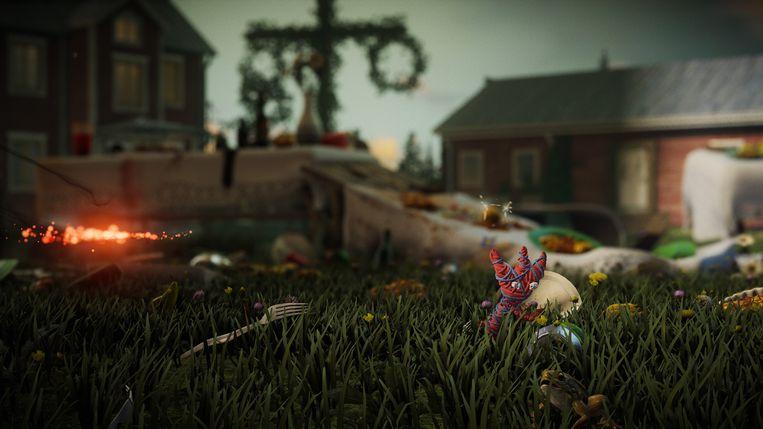 De obstakels en decors zijn, eigenlijk meer nog dan de breigarenwezentjes, de ster in 'Unravel Two'. Beeld Electronic Arts