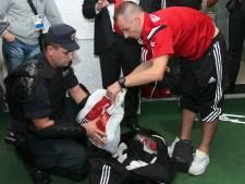 Servische politie doorzoekt tas Albanese spelers