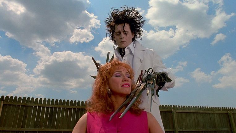Met Kathy Baker in 'Edward Scissorhands'. Beeld Internet