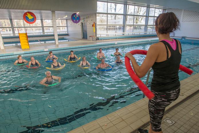 Zwemmers in zwembad De Albatros in Eersel.