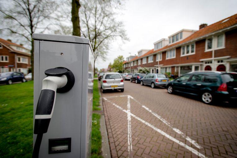 Een laadpaal in Utrecht, Nederland.  Beeld ANP
