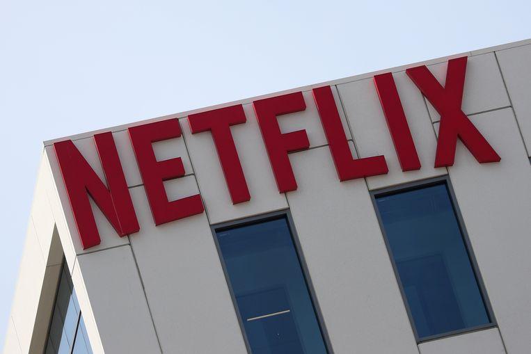 Het logo van Netflix op hun kantoor in Hollywood. Beeld REUTERS