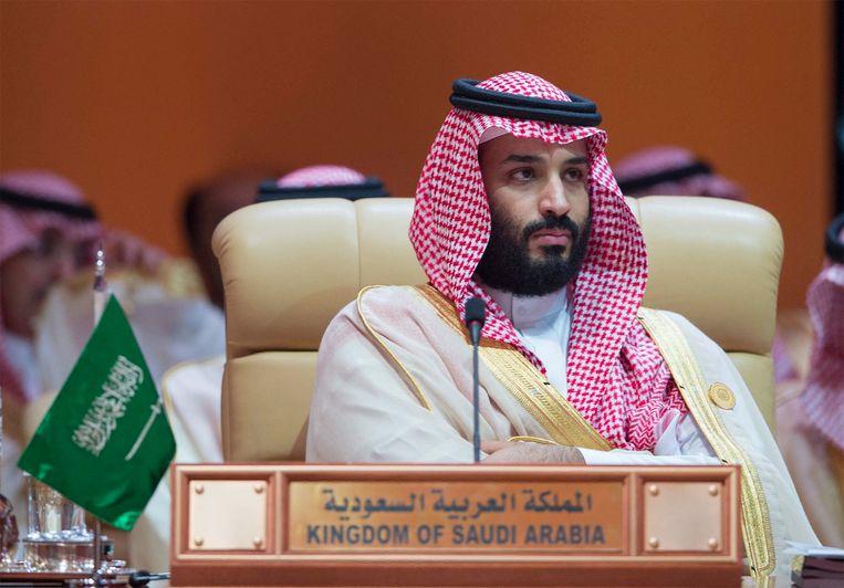 De Saudische kroonprins Mohammed bin Salman wordt verantwoordelijk gehouden voor de moord op de journalist Jamal Khashoggi.  Beeld EPA