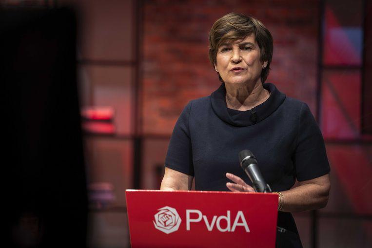 Liliane Ploumen tijdens het PvdA-partijcongres. Beeld ANP  JEROEN JUMELET