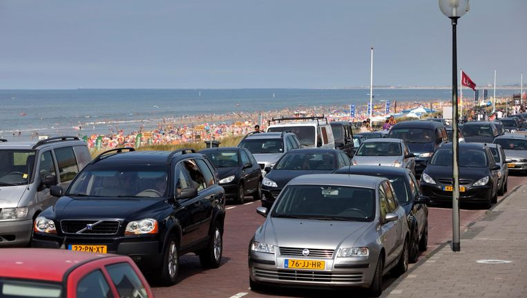 Bij de kust worden files verwacht Beeld anp