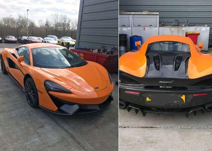 De gestolen McLaren.