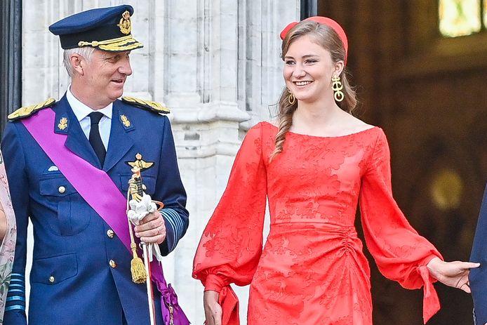 Koning Filip en zijn dochter.