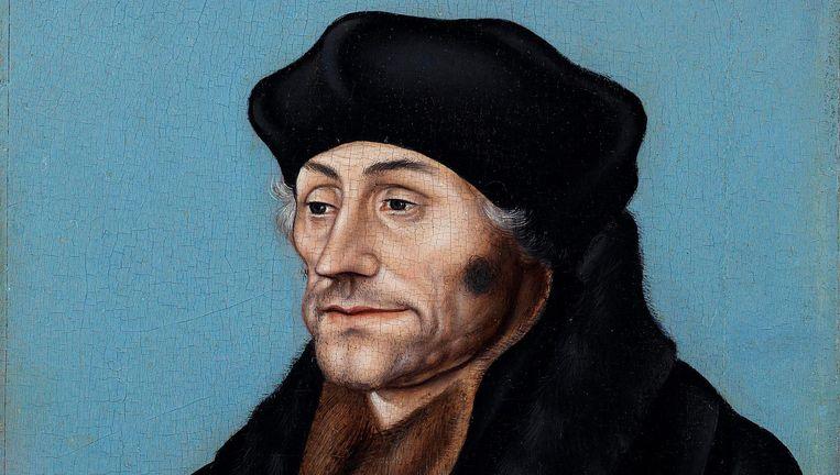 Humanist Erasmus, door Cranach. Museum Boijmans van Beuningen Beeld Hans Worrel