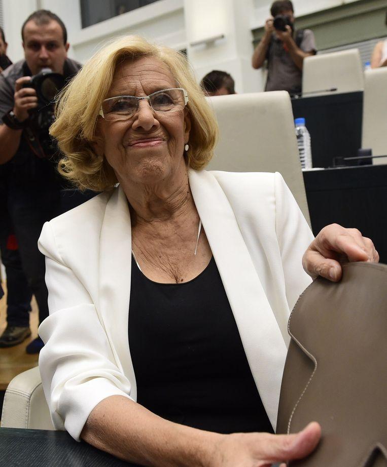 Voormalig rechter Manuela Carmena. Beeld AFP