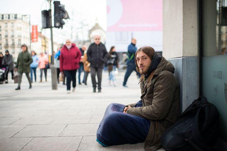 George leeft al zes maanden op straat in Antwerpen.