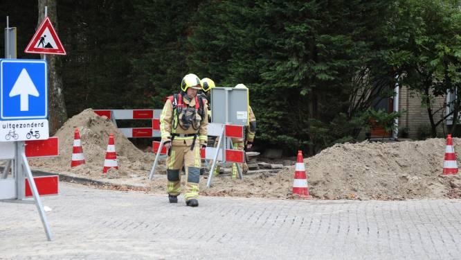 Gaslek aan Hofcampweg in Wassenaar, straat deels afgesloten