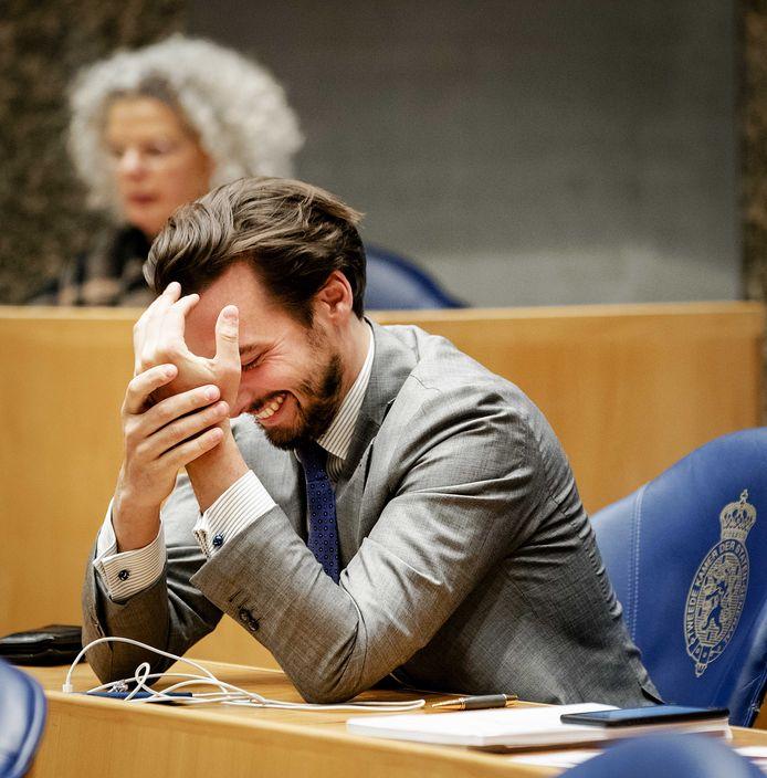 Thierry Baudet tijdens het vragenuurtje, dinsdag.