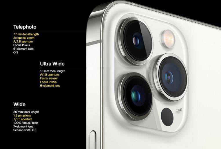 Het camerasysteem van de iPhone 13 Pro Beeld Apple