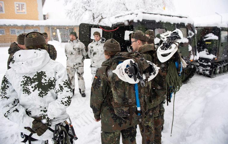Duitse soldaten in Beieren.