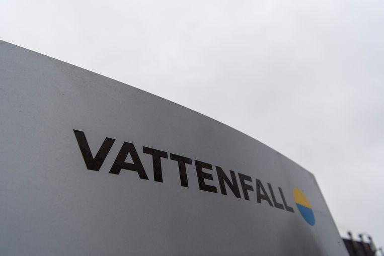 Het logo van Vattenfall. Beeld EPA