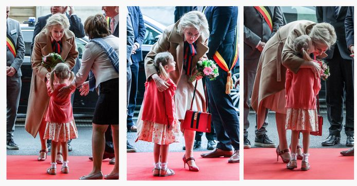 Prinses Astrid werd verwelkomd door Femke Vandenbulcke