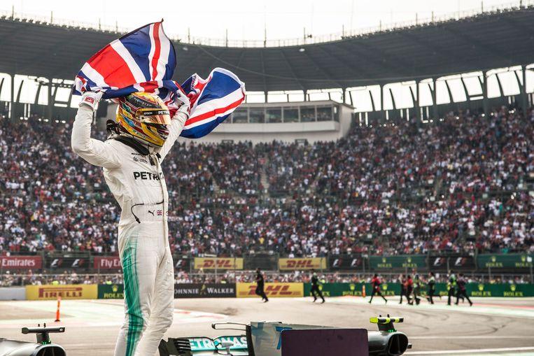 Wereldkampioen Lewis Hamilton. Beeld Photo News